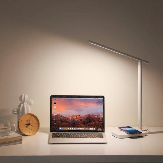 Baseus LED asztali lámpa Qi vezeték nélküli töltővel