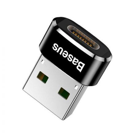 Baseus USB-C - USB-A adapter - 5A - Fekete