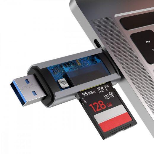 Baseus Lentil-Cabin USB + USB-C Kártyaolvasó - SD, microSD