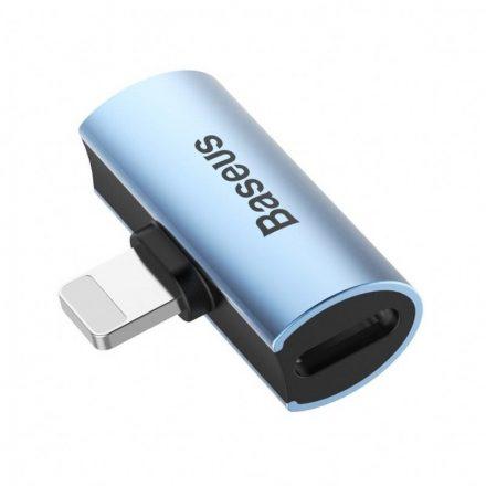 Baseus L46 Audio Adapter - iP Lightning - 2x Lightning - Kék