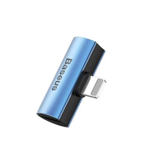Baseus L46 Audio Adapter - Lightning (apa) - 2x Lightning (anya) - Kék