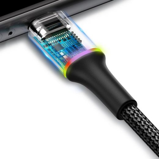 Baseus Halo USB - Lightning Kábel - 1m 2,4A - Fekete
