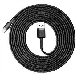 Baseus Cafule USB - Lightning Kábel - 3m 2A - Fekete-Szürke