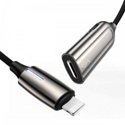 Baseus L55 Audio Adapter - Lightning (apa) - 2x Lightning (anya) - Ezüst