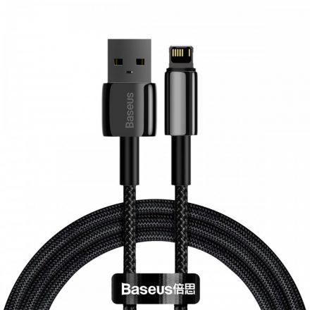 Baseus Tungsten Gold USB - Lightning Kábel - 2m 2,4A - Fekete