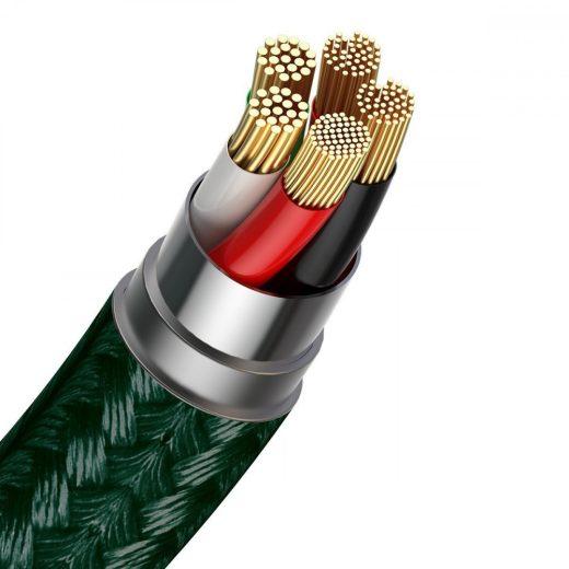 Baseus Zinc Mágneses USB - Lightning Kábel - 1m 2,4A - Zöld