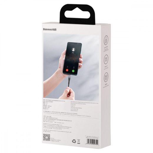 Baseus Zinc Mágneses USB - Lightning Kábel - 1m 2,4A - Fekete