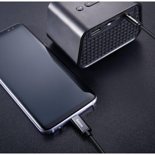 Baseus Yiven Audio Kábel USB-C Mini Jack 3,5mm 1,2m - Fekete