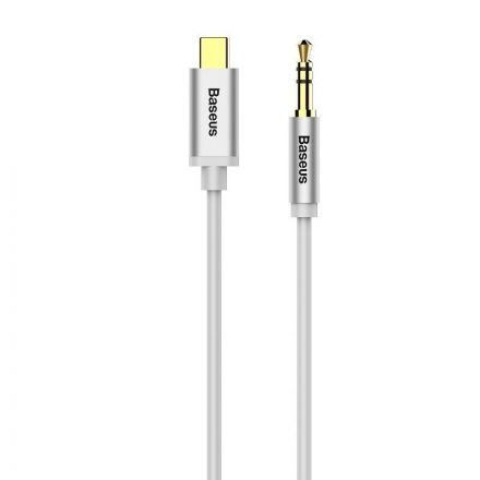 Baseus Yiven Audio Kábel USB-C - Mini Jack 3,5mm - 1,2m - Fehér