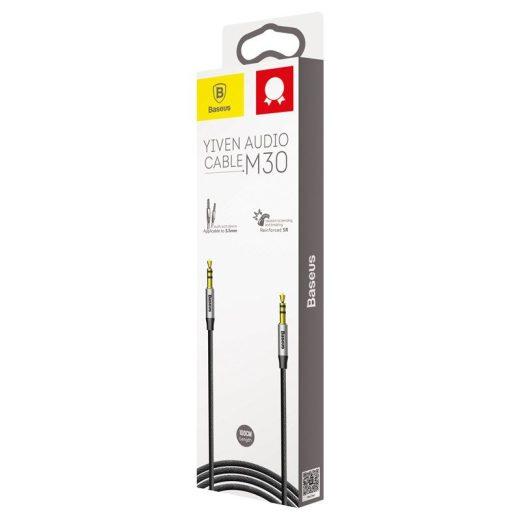Baseus Yiven Audio Kábel M30 Mini Jack 3,5mm AUX 1m - Fekete-Ezüst