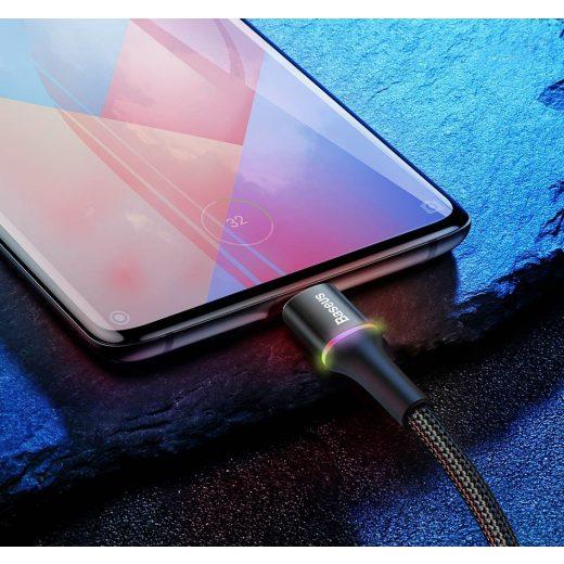 Baseus Halo USB - Micro USB Kábel - 0,5m 3A - Fekete