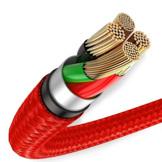 Baseus Halo USB - Micro USB Kábel - 1m 3A - Piros