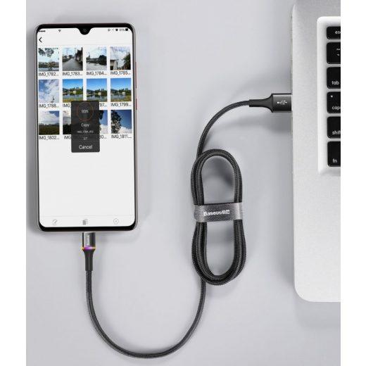 Baseus Halo Micro USB Kábel - 3A 1m - Piros