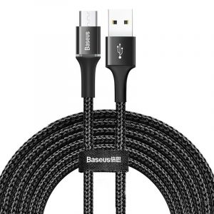 Baseus Halo USB - Micro USB Kábel - 3m 2A - Fekete