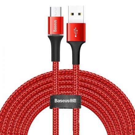 Baseus Halo USB - Micro USB Kábel - 3m 2A - Piros