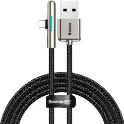 Baseus Iridescent Lamp HW Fast Charge USB-C Kábel - 40W 2m - Fekete