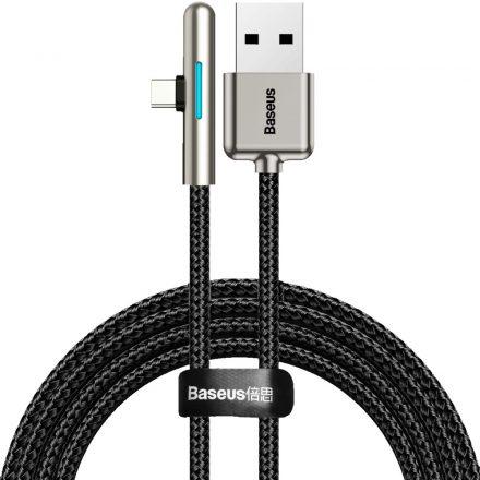 Baseus Iridescent Lamp USB - USB-C Fast Charge Kábel - 2m 40W - Fekete