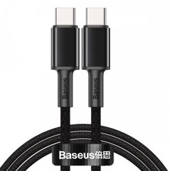 Baseus High Density Braided USB-C - USB-C Kábel - 1m 100W - Fekete