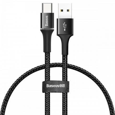 Baseus Halo USB - USB-C Kábel - 0,25m 3A LED - Fekete