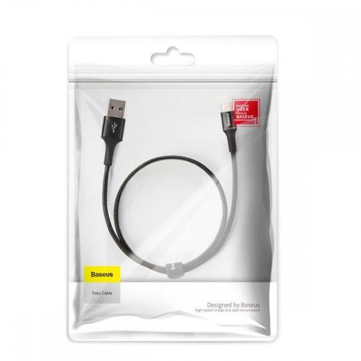 Baseus Halo USB - USB-C Kábel - 0,25m 3A - Fekete