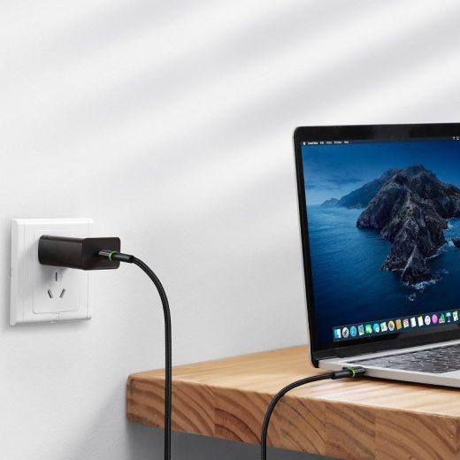 Baseus Halo USB-C - USB-C Kábel - 0,5m 3A PD2.0 60W - Fekete