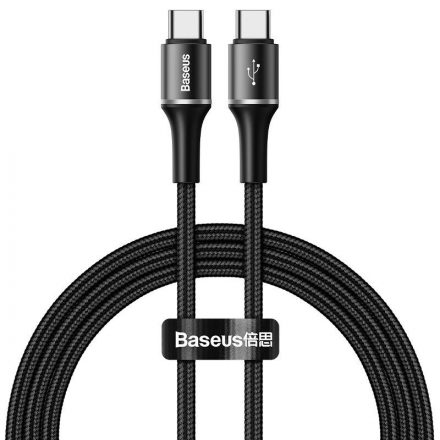 Baseus Halo USB-C - USB-C Kábel - 1m 3A PD2.0 60W - Fekete