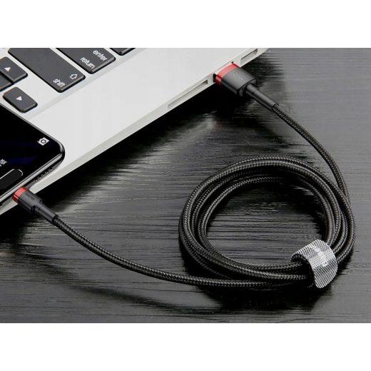 Baseus Cafule USB-C Kábel - 3A 0,5M - Fekete-Piros