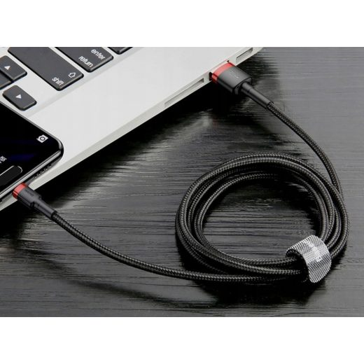 Baseus Cafule USB-C Kábel - 3A 1M - Fekete-Szürke