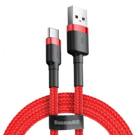 Baseus Cafule USB - USB-C Kábel - 2m 2A - Piros-Piros