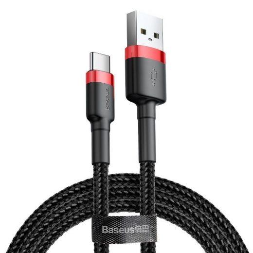 Baseus Cafule USB - USB-C Kábel - 2m 2A - Fekete-Piros