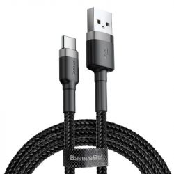 Baseus Cafule USB-C Kábel - 2A 2M - Fekete-Szürke