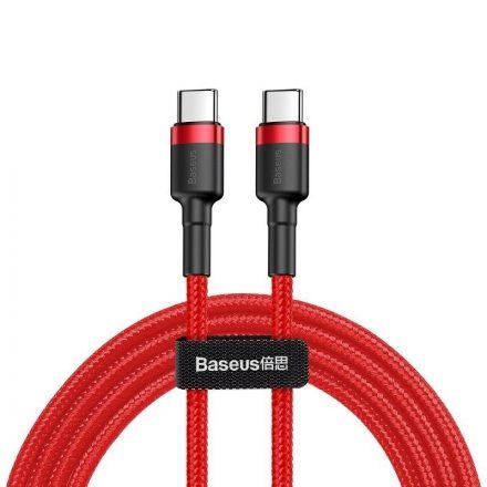 Baseus Cafule USB-C - USB-C Kábel - 2m 3A 60W - Piros