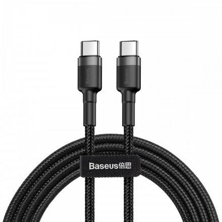 Baseus Cafule USB-C - USB-C Kábel - 2m 3A 60W - Fekete-Szürke