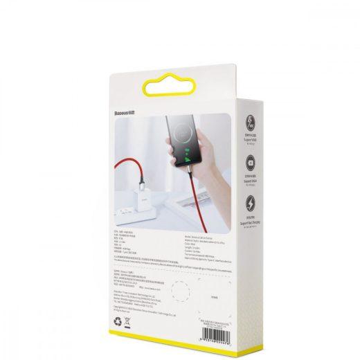 Baseus Cafule USB - USB-C Kábel - 1m 5A - VOOC - Piros