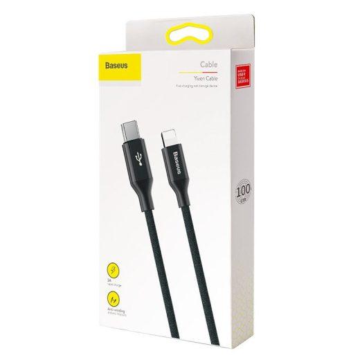 Baseus Yiven USB-C - Lightning Kábel - 1m 2A - Fekete