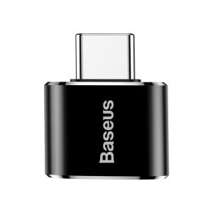 Baseus USB adapter USB-A (anya) - USB-C (apa) - 2,4A - Fekete