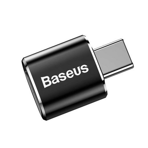 Baseus USB adapter micro-USB (anya) - USB-C (apa) - 2,4A - Fekete