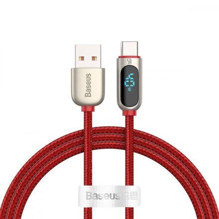 Baseus Display USB - USB-C Kábel - 1m 5A - Piros