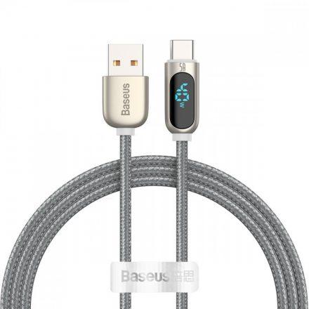 Baseus Display USB - USB-C Kábel - 1m 5A - Ezüst