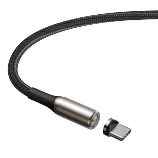 Baseus Zinc Mágneses USB - USB-C Kábel - 1m 2A - Fekete