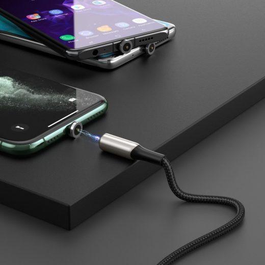 Baseus Zinc Mágneses USB-C Kábel - 2A 1m - Fekete