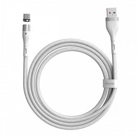 Baseus Zinc Mágneses USB - USB-C Kábel - 1m 5A - Fehér