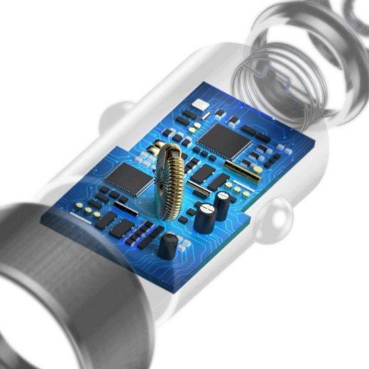 Baseus Autós Töltő Small Screw QC 3.0 - 2xUSB - 2,4A - 36W