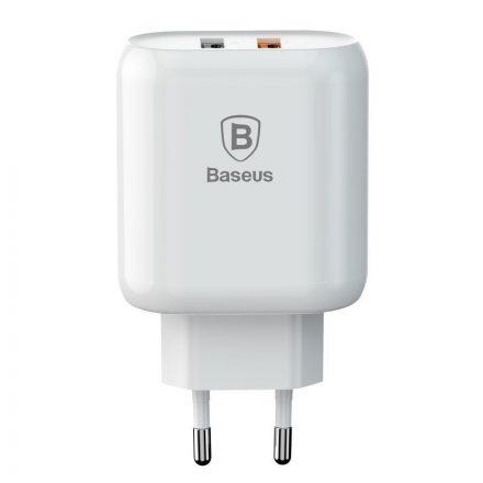 Baseus Bojure Hálózati Töltő - 2xUSB - QC 3.0 23W