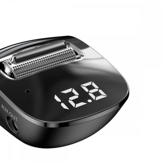 Baseus FM Transmitter és Töltő - Streamer - 2xUSB - Fekete