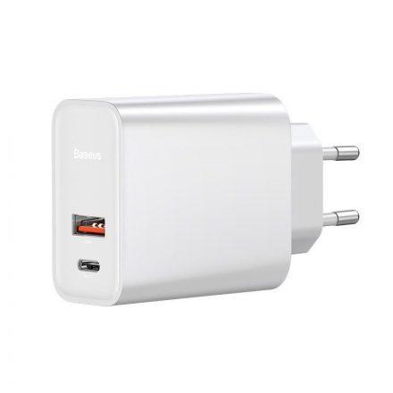 Baseus Speed PPS Hálózati Gyorstöltő - USB+USB-C - QC 3.0 30W