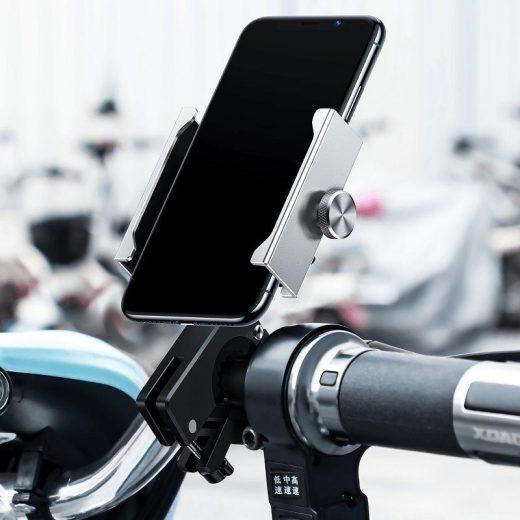 Baseus Knight Motoros és Kerékpáros Tartó - Ezüst