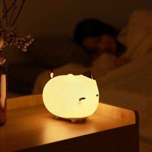 Baseus Cute series Kitty - Szilikon Éjszakai Lámpa