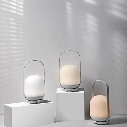 Baseus Moon-white Szabályozható Fényerősségű Éjszakai Lámpa - Fehér