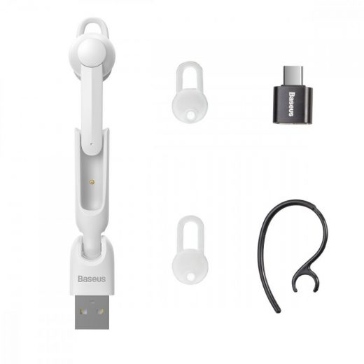 Baseus Encok A05 Bluetooth Mono Headset - Fehér